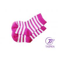 Quality Pink Stripe !00% All Cotton Seamless Non Slip Baby Socks, Kids Winter Warm Sock wholesale
