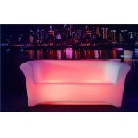 Quality Two Seats LED Sofa 8-10 Hours Working Time Ployethylene Indoor LED Couches wholesale