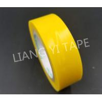 China Yellow Rubber Adhesive Electrical PVC Insulation Tape 0.10mm - 0.22mm Thickness on sale