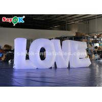 China White Fabric LED Lighting Inflatable Letter LOVE By Touch Screen Remote Control on sale