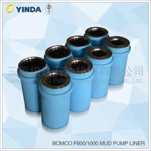 China Cast Iron Triplex Mud Pump Accessories Liner Chromium Content 26-28% Bomco F800 on sale