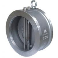 Quality Carbon Steel Cast Check Valve Wafer Ends Double Disc 100% Leak Proof Sealing wholesale
