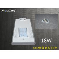 China 18W Automatic Time Control Solar Powered Road Lights Outdoor with CE RoHs Certificates on sale
