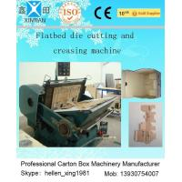 Quality Corrugated Cardboard Manual Flat Creasing And Die-Cutting Machine 5.5kw / 7.5kw wholesale