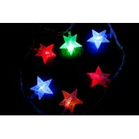 China 110V 220V Outdoor LED string light with transparent five point star decorations on sale