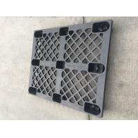 Quality Recycled perforated surface with nine feet black color nestable plastic pallet wholesale