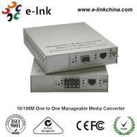 Quality E-link 10 / 100M One to One Manageable Fast Ethernet Media Converter with Internal Power Supply wholesale