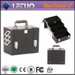 Quality LT-MC050 Black Compact case beauty makeup cosmetic aluminum case makeup case empty wholesale