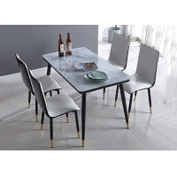 China Ground Glass Banquet Solid Modern Dinning Table And Chairs on sale