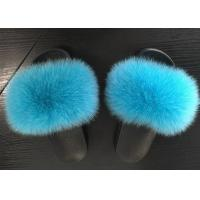 China Indoor Outdoor Real Fox Fur Slippers 35-44 Size With Slides Platform OEM on sale
