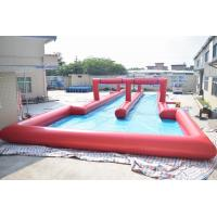 Quality 50m Inflatable Water Slide , Inflatable Long Slide For City Road wholesale