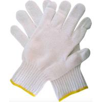Quality Soft Breathable Cotton Knit Work Gloves , White Industrial Hand Gloves wholesale