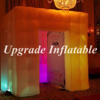 Quality custom high quality inflatable led photo booth with color changing light for wedding decoration wholesale