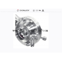 China CIP Port DN50 1.4301 Manual Butterfly Sanitary Ball Valve on sale