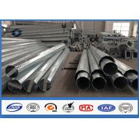 Quality Electric Steel Power Transmission Pole with Slip Joint Connection 10 - 550KV wholesale