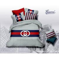 Quality Free shipping 4 sets European American luxury brand big cotton bedding,double G brand set wholesale