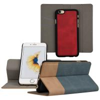 China IPhone 6s Cell Phone Leather Cases Detachable 2 In 1 Flip Folio Book Magnetic on sale