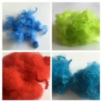 Cheap Dope Dyed Staple Recycled Pet Fiber 2.5D - 15D Staple Fiber For Non Woven for sale