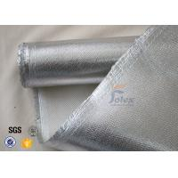 Quality 800℃ 700g 0.8mm Silver Coated High Silica Fabric Cloth For Heat Resistant wholesale