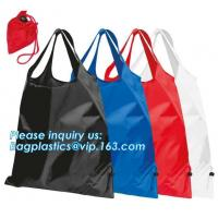 Quality Designs Easy carry small foldable pocket tote polyester reusable folding shopping bag,full print 210d polyester foldable wholesale