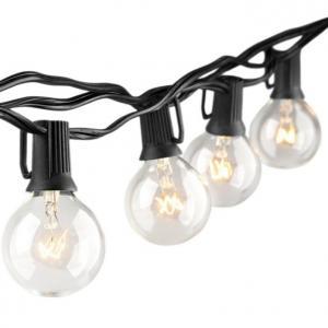 China 33FT LED Bulb String Lights , 4.5V Solar Powered Bulb String Lights on sale