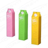 China Promotional Gift Plastic Milk Bottle Shape Portable Power Bank 2600mah for Mobile Phones on sale