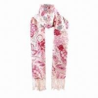 Quality 2012 Hot Selling Promotional Floral-printed Acrylic Scarf wholesale