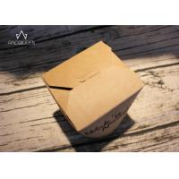 Quality Kraft Paper Takeaway Food Containers Noodles Boxes Flexo Printing / Offset Printing wholesale