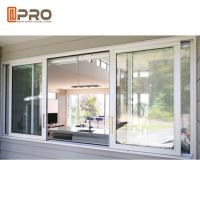 Quality Custom Made Double Glazed Aluminium Sliding Windows Horizontal Opening Pattern wholesale