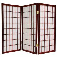 Quality 3 Panels Wooden Foldable Movable Woven Decorative Screens Room Divider wholesale