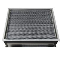 Cheap Aluminum Frame High Temperature Hepa Filters With 22 Pleats Per 20 Centimeter for sale