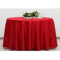 Quality Polyester Jacquard Plain Linen Table Cloths For Wedding Party Oilproof Fire Retardant wholesale