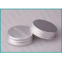 Quality Aluminum Screw Top Caps , 38/400 Matt Silver Screw Caps With Embossed Logo wholesale