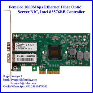 Quality 1Gbps Gigabit Ethernet Dual Port Server Network Card, SFP Slot, PCI Express x4, LC Fiber wholesale