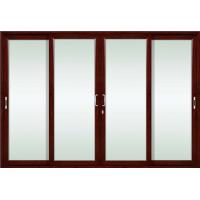 China German siegenia hardware champagne aluminum sliding glass doors with tempered glass on sale
