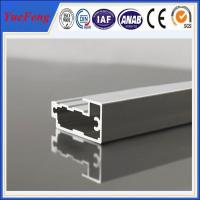 China largest grain companies square flat aluminum alloy cabinet handle/ kitchen cabinet profil on sale