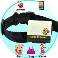 Quality Pet animal dog cat GPS Tracker with collar W/ web tracking on Google Map on mobile phone wholesale
