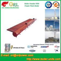 Quality Water Tube Boiler Header Manifolds TUV Standard , Water Boiler Header wholesale