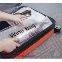 China Reusable protector cover holder bag,protector plastic bubble bags for wine bottles wine bottle cover, BIODEGRADALE, ECO on sale