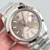 Quality Wholesale 2016 Rolex 116334 DateJust II 41mm Automatic 3136 Grey Dial Stick Marks Smooth Bezel Watch wholesale