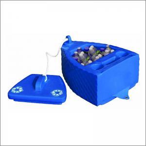 China Blue Beer Bottle Cooler , Floating Pool Cooler Glossy Vinyl Coating Durable on sale