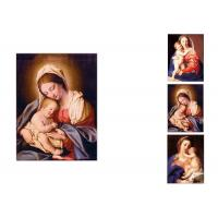Quality 0.6mm PET Flip Religion Virgin Mary / Jesus 3D Lenticular Images For Wall Decro wholesale