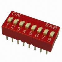 Buy cheap BSE series DIP Switches with High Temperature Resistance, Available in Red/Blue from wholesalers