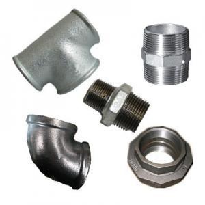 China DIN,bs,american,galvanized malleable iron pipe fittings,galvanized fittings,elbow,socket,nipple,tee,cross,cap,plug on sale