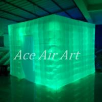 Cheap Ace Air Art 3mL x3mW x2.4m H led lighting inflatable photobooth for rental to for sale
