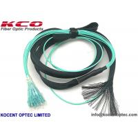 Quality MPO to 12 LC OM3 OM4 Fiber Optic Truck Patch Cable With Pulling Eye Protection Tube wholesale