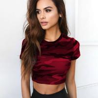 China Trendy Clothing Womens Sexy Tight T Shirt on sale