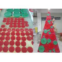 Quality Simple Style Shop Display Christmas Decorations Xmas Tree Made From Resin Buttons wholesale