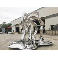 Quality Modern Outside Garden Ornaments Art Stainless Steel Sculpture For Street Decoration wholesale