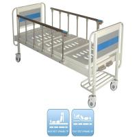 Buy cheap Two Functions Medical Manual Hospital Bed With Two Cranks And Over Bed Table from wholesalers